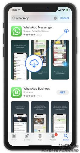reinstall whatsapp on iphone