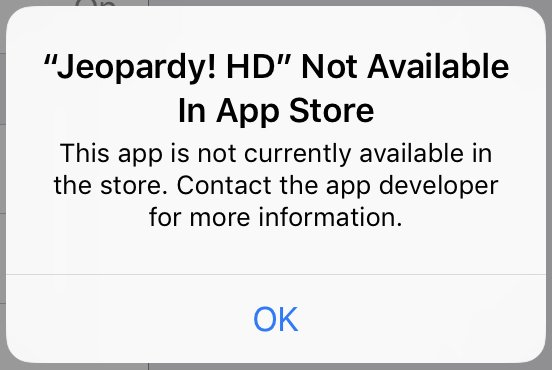 app not available in app store