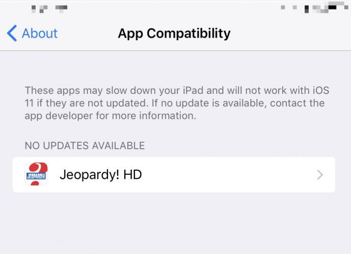 app compatibility menu iphone