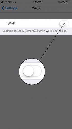 how to turn wifi off on iphone