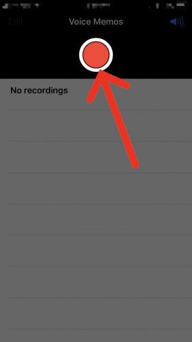 start new voice memo iphone