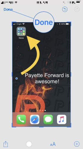edit iOS 11 screenshots