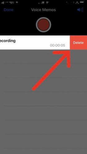 delete voice memo on iphone