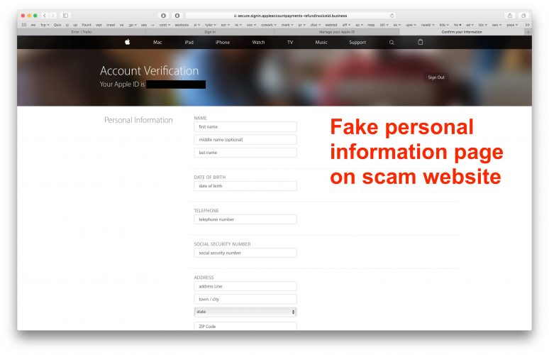 apple id email scam pdf