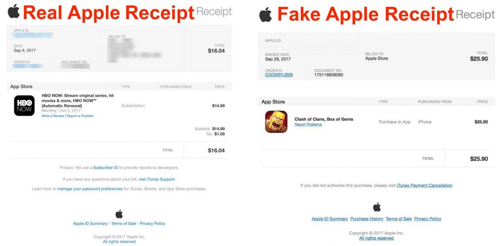 IPhone Scam Email Apple Purchase Successfully Payment Confirmation - Appstore invoice