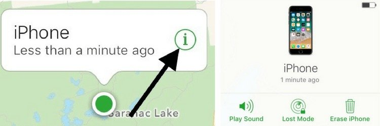 play sound lost mode find my iphone