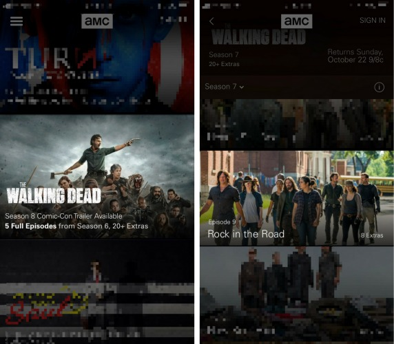 select episode of the walking dead iphone app