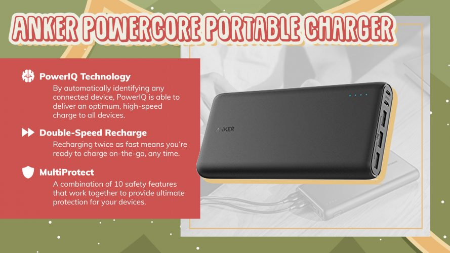 iPhone anker powercore portable charger