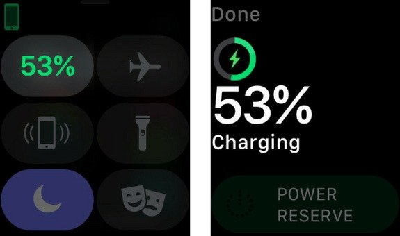 apple watch battery percentage
