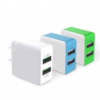 dual usb fast wall charger