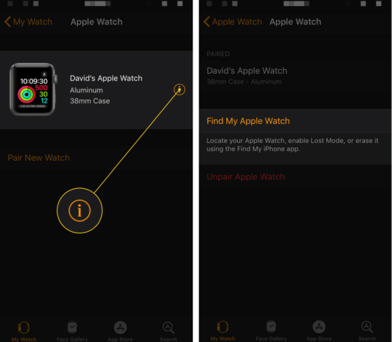 how to use find my apple watch