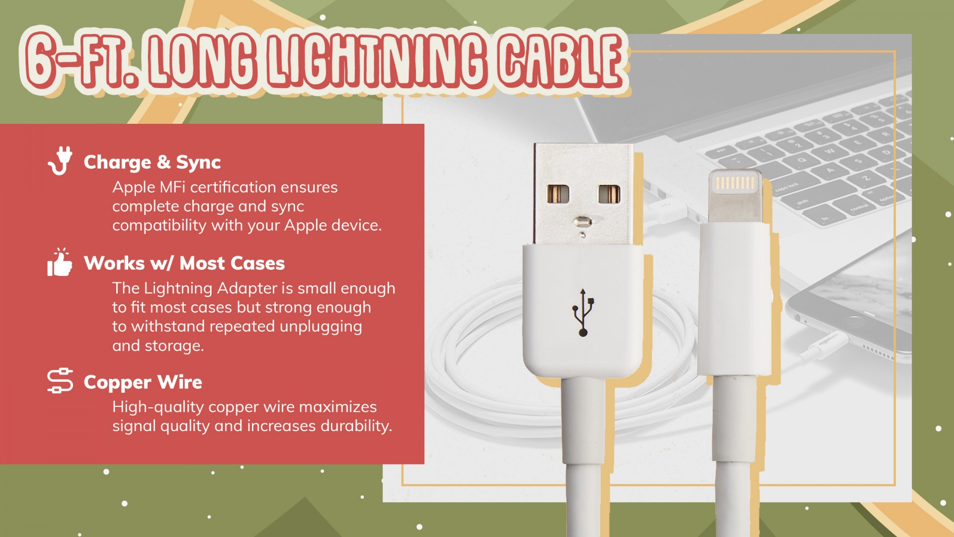 6 foot lightning cable in iPhone gift guide