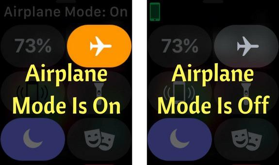 turn off airplane mode apple watch