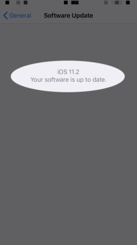 11.2 software up to date