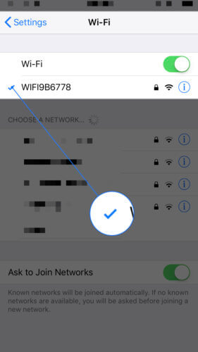 make sure that your iPhone is connected to wifi
