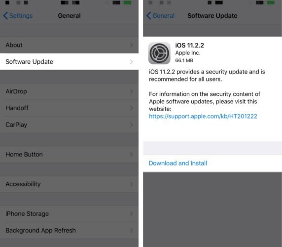 update to ios 11.2.2