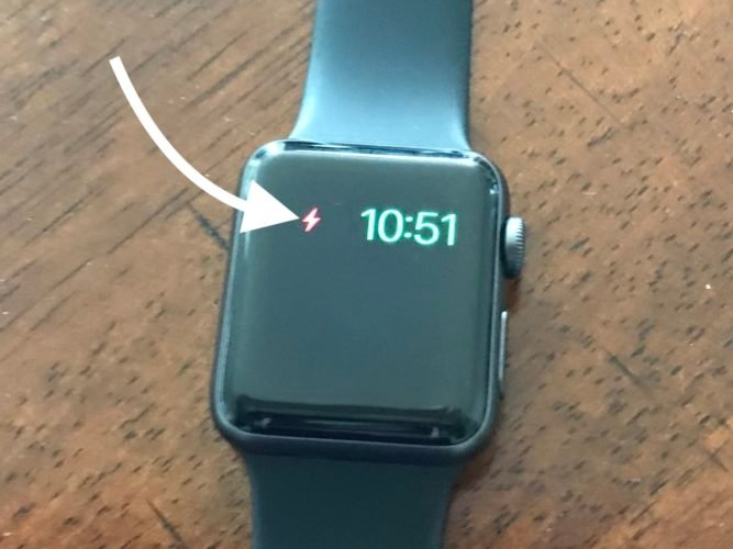 charge apple watch to exit power reserve