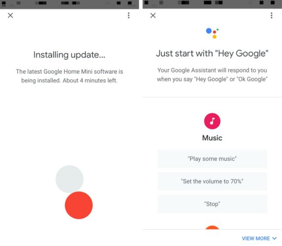 google home installing update