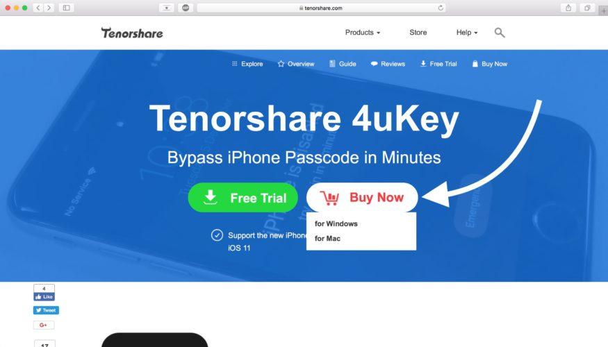 how to buy tenorshare 4ukey