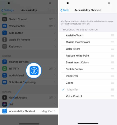 ios 13 accessibility shortcuts