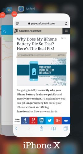 iphone x app switcher