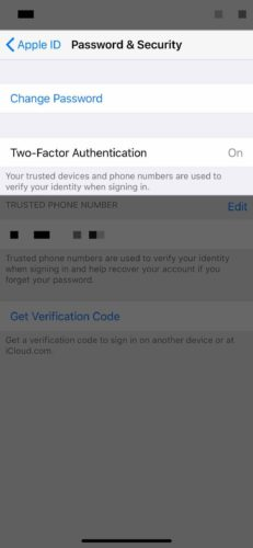 two factor authentication on iphone