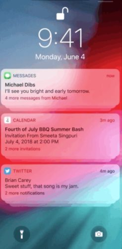 ios 12 grouped notifications