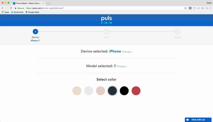puls confirm color