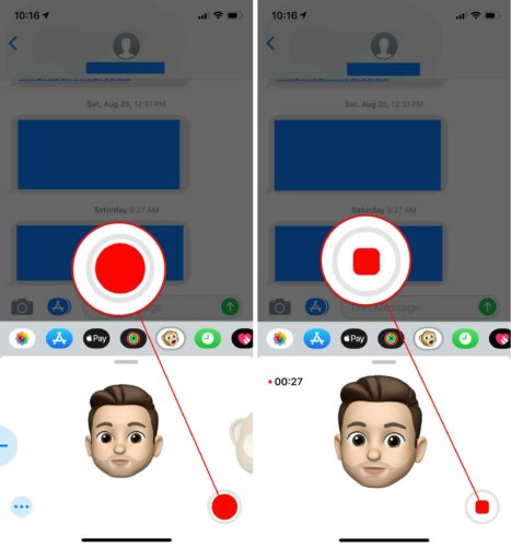 how to record memoji message