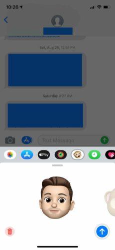 send memoji on iphone