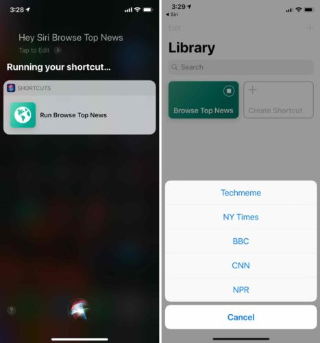use siri to run iphone shortcut