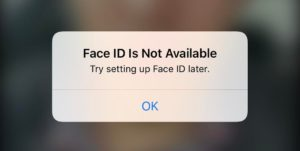 face id is not available try setting up face id later