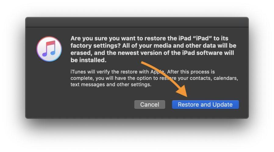 begin ipad dfu restore