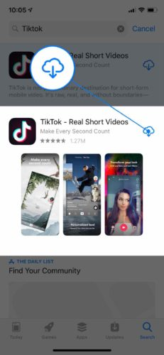 reinstall tiktok app