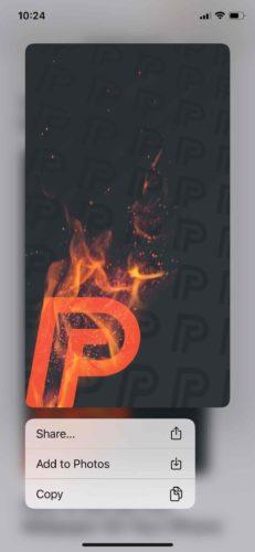add pf wallpaper to photos