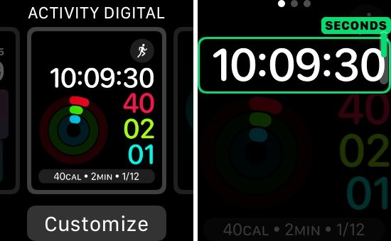 change and customize apple watch face