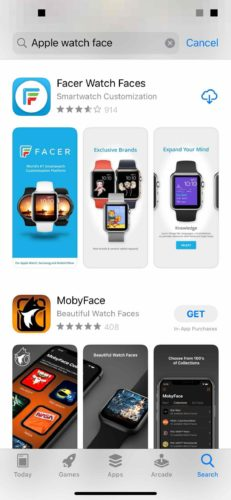 search for apple watch face apps