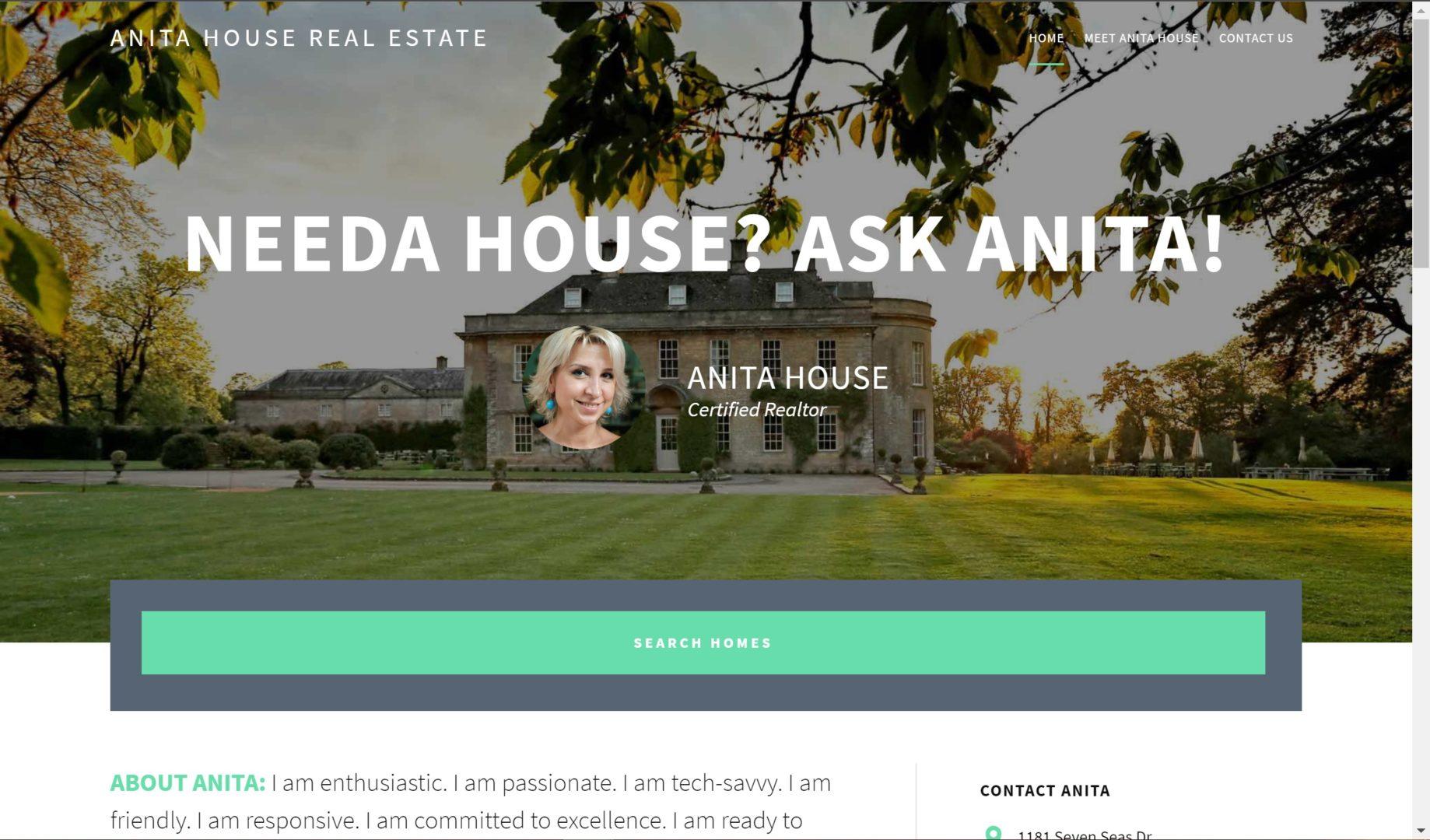 Anita's real estate website