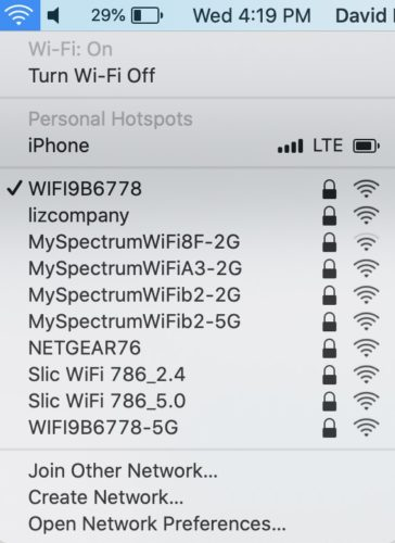 check wifi on mac