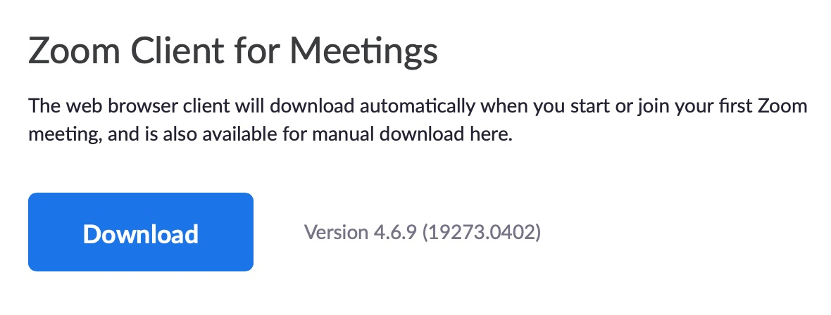 download zoom client for meetings on mac