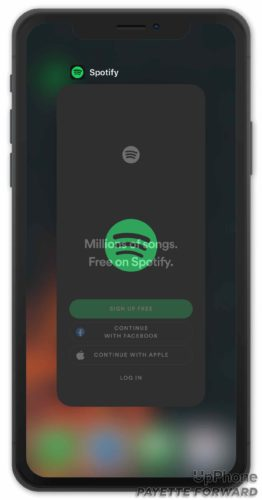 spotify in app switcher