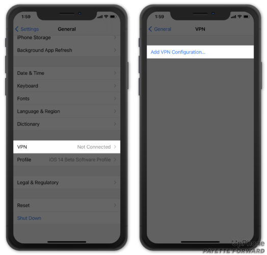 add vpn configuration on iphone