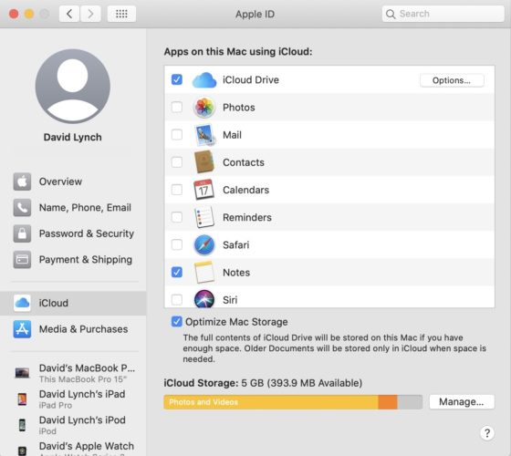 apple id system preferences