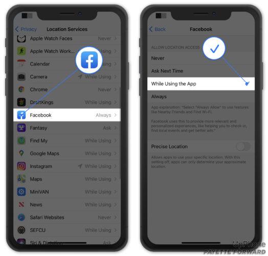 facebook location services