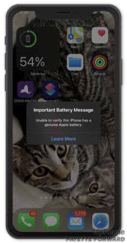 iphone important battery message