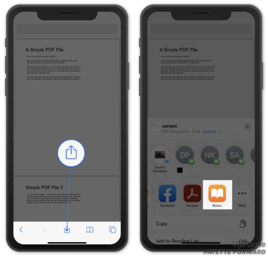 open pdf in books app