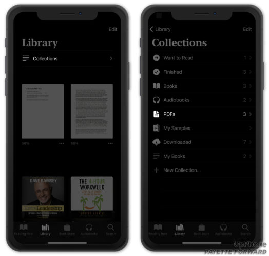 view pdfs in books app