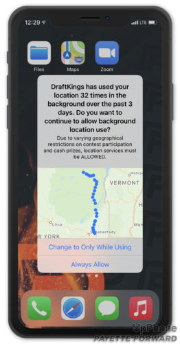 draftkings uses location 32 times