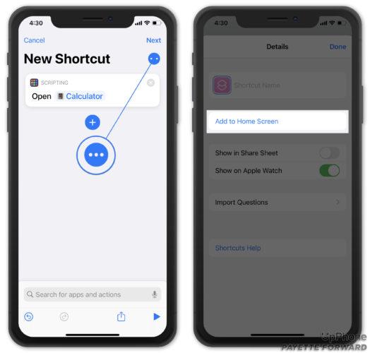 add siri shortcut to iphone home screen