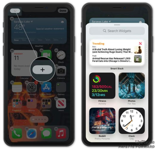 add widgets to iphone home screen